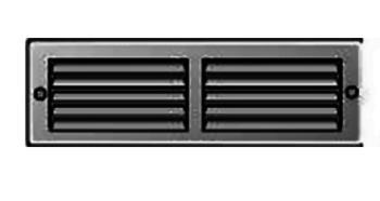 Griglia Areazione rettangolare Edilplast griglia 200 x 60 Nero con Rete da Sovrapporre