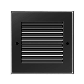 Griglia Areazione quadrata Edilplast griglia in metallo 140 x 140 nero con Rete da Sovrapporre