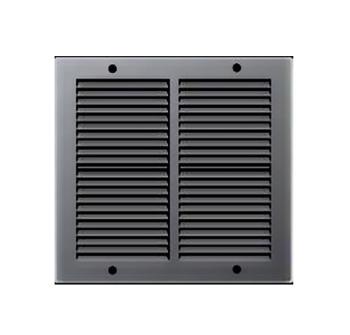 Griglie d'Aerazione quadrata in Metallo Edilplast 240 x 240 Nero con Rete da Sovrapporre