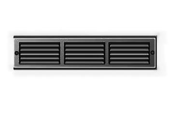 Griglia d'Aerazione Edilplast griglia in metallo 340 x 140 Nero con Rete
