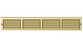 Griglia Areazione rettangolare in metallo Edilplast griglia 400 x 60 ottone