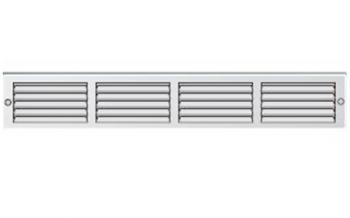 Griglia Aerazione rettangolare in metallo Edilplast griglia 400 x 60 Bianca con Rete da Sovrapporre