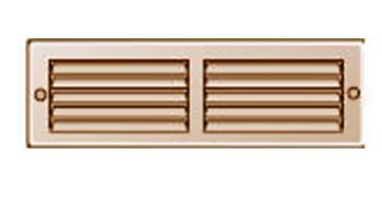 Griglia Areazione rettangolare Edilplast griglia 200 x 60 Rame con Rete da Sovrapporre