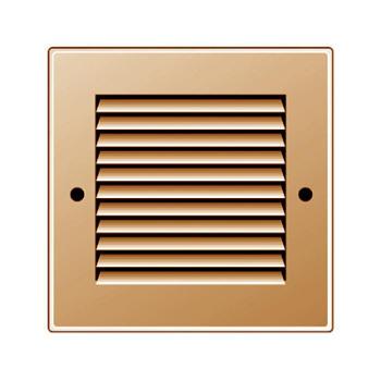 Griglia Areazione quadrata Edilplast griglia in metallo 140 x 140 rame con Rete da Sovrapporre