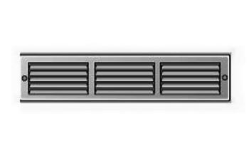 Griglia Aerazione rettangolare Edilplast griglia in metallo 300 x 60 Grigio con Rete