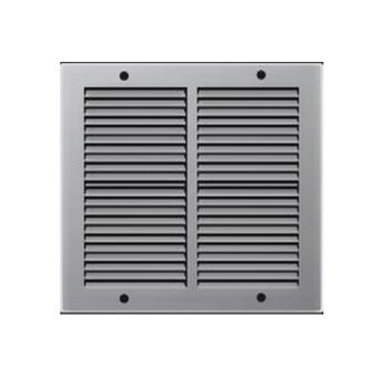 Griglie d'Aerazione quadrata in Metallo Edilplast griglia 240 x 240 Grigio  con Rete da Sovrapporre