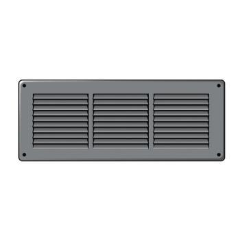 Griglia d'Aerazione Edilplast griglia in metallo 340 x 140 Grigio con Rete