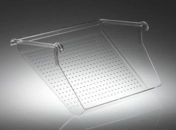 Set 4 Vaschette portascarpe-portaoggetti in policarbonato trasparente lucido infrangibile