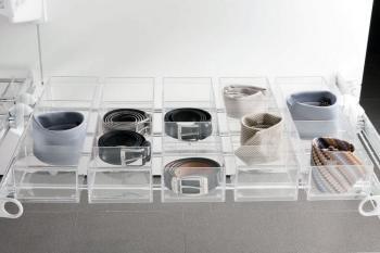 Vaschetta portaoggetti impilabile JOLLY Servetto in policarbonato trasparente lucido infrangibile