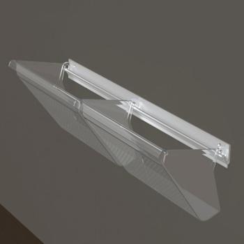 """PORTASCARPE """"WALL"""" composto da un Profilo in alluminio e 2 Vaschette in policarbonato trasparente lucido"""