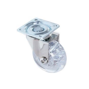 Ruote decorative Slip trasparente diametro 50 con piastra Senza freno