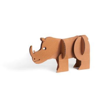 Animali in cartone Rinoceronte 15 x 24 x 5 cm Giocattoli