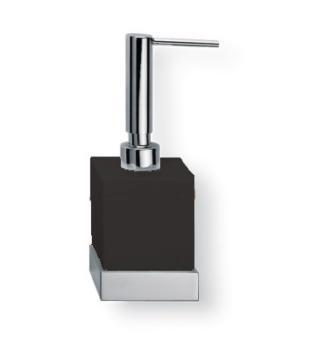Porta sapone liquido da appoggio Valli Arredobagno serie Strict B 6524 Nero Opaco