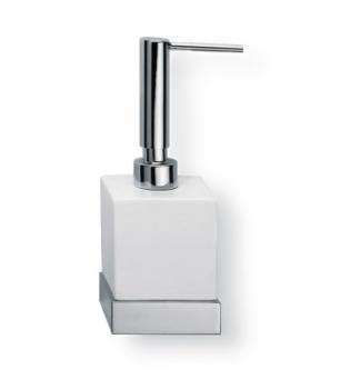 Porta sapone liquido da appoggio Valli Arredobagno serie Strict B 6524 Bianco