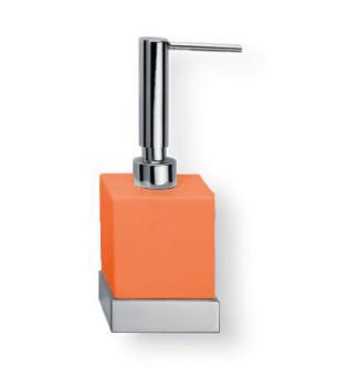 Porta sapone liquido da appoggio Valli Arredobagno serie Strict B 6524 Arancione