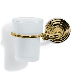 Bicchiere Portaspazzolino design classico Valli Arredobagno serie Medea C 6041 Oro Sinistro