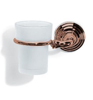 Bicchiere Portaspazzolino design classico Valli Arredobagno serie Medea C 6041 Anticato Sinistro
