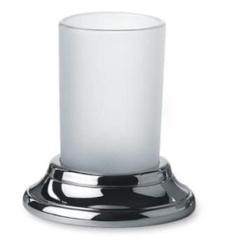 Bicchiere Portaspazzolino design classico Valli Arredobagno serie Medea C 6042  Cromo