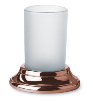 Bicchiere Portaspazzolino design classico Valli Arredobagno serie Medea C 6042  Anticato