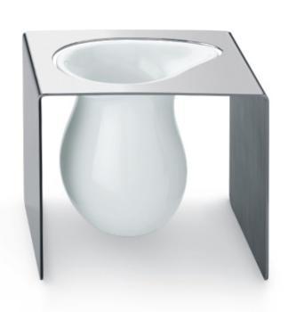 Bicchiere Portaspazzolino di design Valli Arredobagno serie Worn C 6322