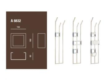 Porta salviette accessorio per piantana a muro Valli Arredobagno serie Rigò A 8832