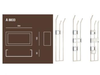 Porta salviette accessorio per piantana a muro Valli Arredobagno serie Rigò A 8833