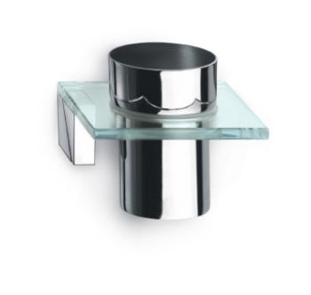 Bicchiere Portaspazzolino da parete Valli Arredobagno serie Crystal C 8821 Cromo