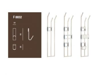 Gancio F 8832 - Accessorio per Piantana a muro porta abiti Valli Arredobagno serie Rigò