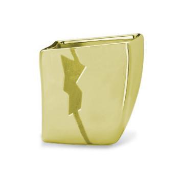 Bicchiere Portaspazzolino da appoggio Valli Arredobagno serie 3000 Oro L 8022