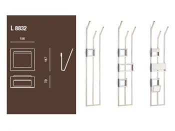 Porta riviste accessorio per piantana Valli Arredobagno serie Rigò L 8832