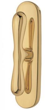 Valli & Valli serie H 1003 Croco maniglia per finestre cremonese Oro satinato
