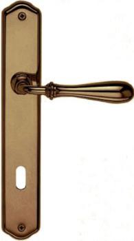 Valli & Valli serie H 1004 Antares Maniglia per porta interna placca foro per cilindro Brunito