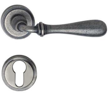 Valli & Valli serie H 1004 Antares Maniglia per porta interna rosetta bocchetta foro yale Fumè