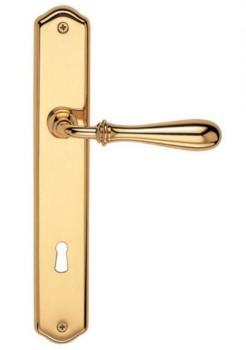 Valli & Valli serie H 1004 Antares Maniglia per porta interna placca foro per cilindro Oro