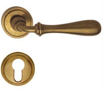 Valli & Valli serie H 1004 Antares Maniglia per porta interna rosetta bocchetta foro yale Oro Naturale