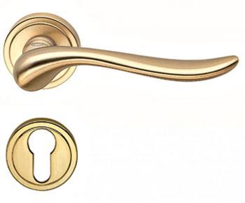 Valli & Valli serie H 165 Germana Maniglia per porta interna rosetta bocchetta tonda foro yale Oro
