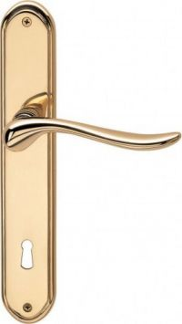 Valli & Valli serie H 165 Germana Maniglia per porta interna placca Oro lucido con foro normale