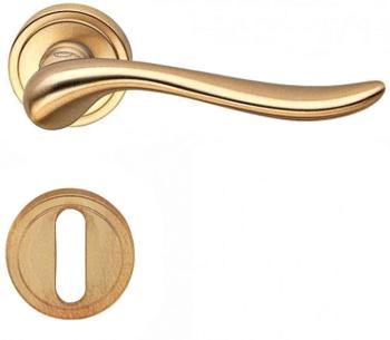 Valli & Valli serie H 165 Germana Maniglia per porta interna rosetta bocchetta foro normale Oro satinato