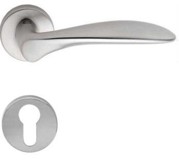 Valli & Valli serie H 1016 Nabucco Maniglia per porta interna rosetta bocchetta tonda foro per cilindro Cromo satinato