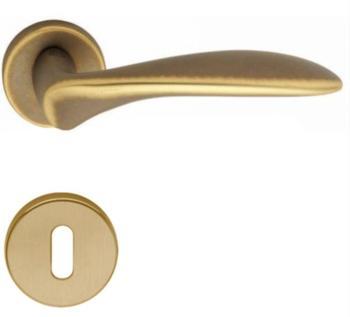 Valli & Valli serie H 1016 Nabucco Maniglia per porta interna rosetta bocchetta tonda foro per cilindro Anticato