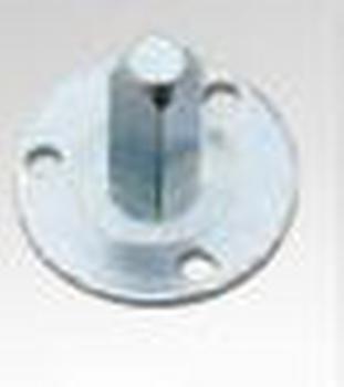 Valli & Valli  serie accessorio piastra 4 fori legno + quadro fissaggio pomolo