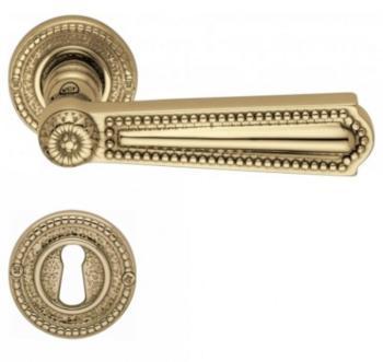 Valli & Valli serie H 123 Luigi XVI Maniglia per porta interna rosetta bocchetta foro normale Oro lucido