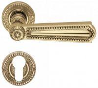 Valli & Valli serie H 123 Luigi XVI Maniglia per porta interna rosetta bocchetta foro per cilindro Oro lucido