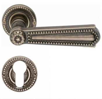 Valli & Valli serie H 123 Luigi XVI Maniglia per porta interna rosetta bocchetta foro per cilindro Oro naturale