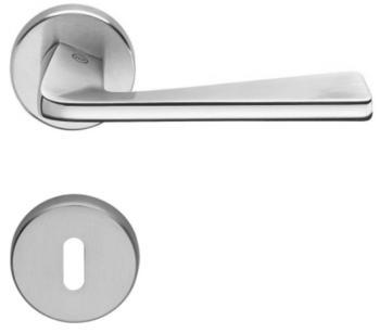 Valli & Valli serie H 1039 Fedra Maniglia per porta interna rosetta bocchetta tonda foro normale cromo + cromo satinato