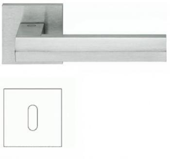 Valli & Valli serie H 1040 Siberia Maniglia per porta interna rosetta bocchetta foro normale Cromo satinato