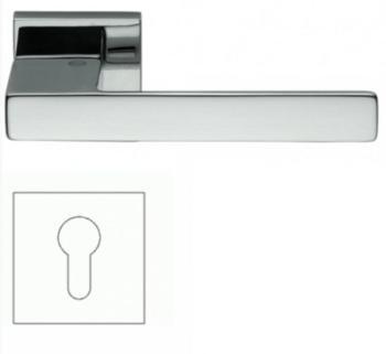 Maniglia per porte Valli e Valli serie Bess H 1045 rosetta bocchetta per cilindro Cromo Lucido