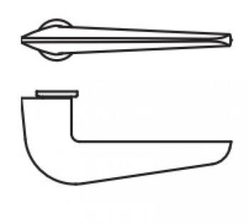 Maniglia per porta Valli&Valli Serie H1056 Quadra Senza Rosetta Cromo