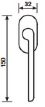 Maniglia per Finestra DK Valli&Valli Serie H1054 W.W Orsatin Opaco