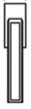 Maniglia per Finestra DK Valli&Valli Serie H1056 Quadra Nikel Nero